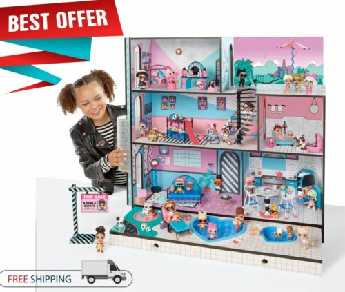 LOL Surprise Doll House For Little Girls With 85 Wooden Interactive Furniture