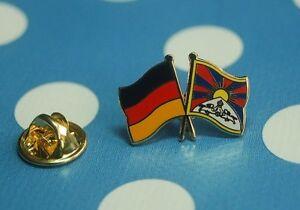 Freundschaftspin-Deutschland-Tibet-Pin-Button-Badge-Anstecker-Asien