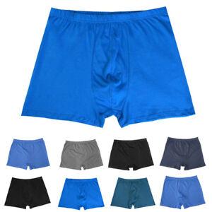 New-Men-Cotton-L-8XL-High-Waist-Boxer-Briefs-Underwear-Underpants-Panties-Random