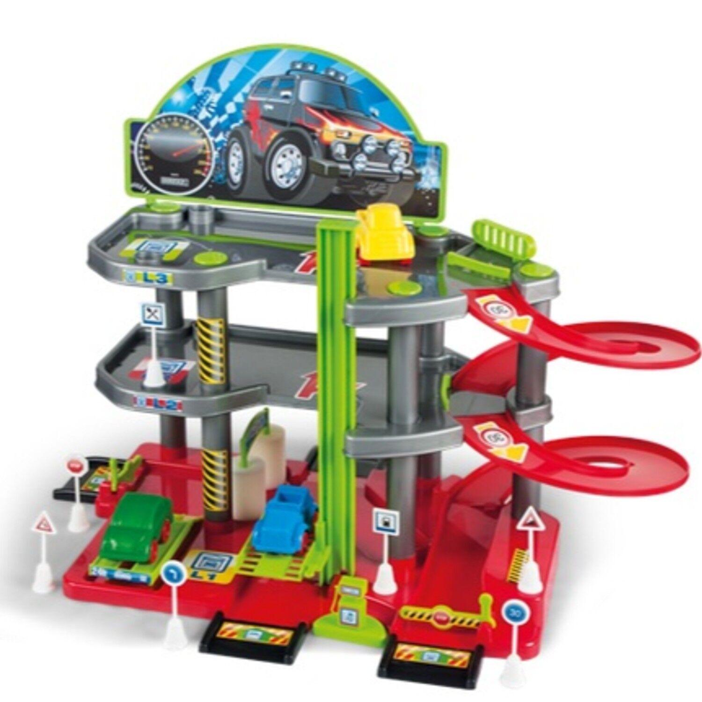 Park Garage Parking with 3 Levels Car Toy Petrol Station