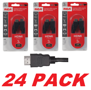 Lot of 24 RCA VH3HHR 3ft HDMI Cable HDTV Gaming Satelite Compatible NEW-SEALED