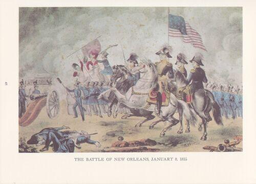 "1974 Vintage Currier /& Ives /""BATTLE OF NEW ORLEANS/"" COLOR Lithograph WAR 1812"