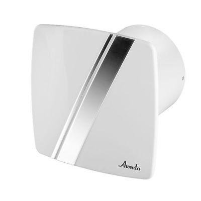 Blanc Salle de bain Cuisine WC Hotte aspirante avec sonde de temporisateur et de lhumidit/é 100mm 4