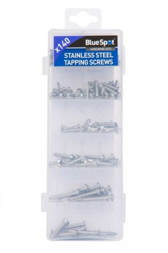 Blue Spot Tools 140 Piece Stainless Steel Self Tapping,Tappers Screw Set,40544