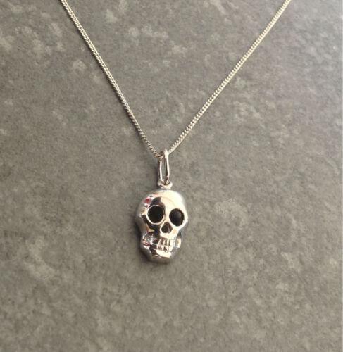 Cráneo de plata esterlina 925 Collar Colgante Regalo Presente-Halloween