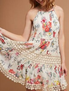c1f28951bbac NWT Anthropologie Kalila Floral Dress by Ranna Gill Halter Swing S-M ...