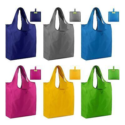 mreechan Bolsa de compras reutilizable plegable 6 piezas Bolsas de supermercado Poli/éster Bolsas de asas reciclables lavables resistentes para almacenamiento en supermercados Uso diario