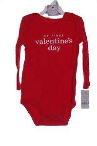 Carters Baby Girls My 1st First Valentines Day One Piece Shirt Top 18 Months NEW