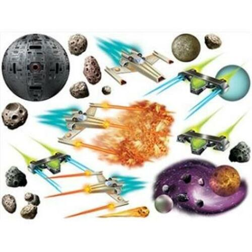 Galaxy Props Outer Space Spaceship Science Party Plastic Wall Decoration
