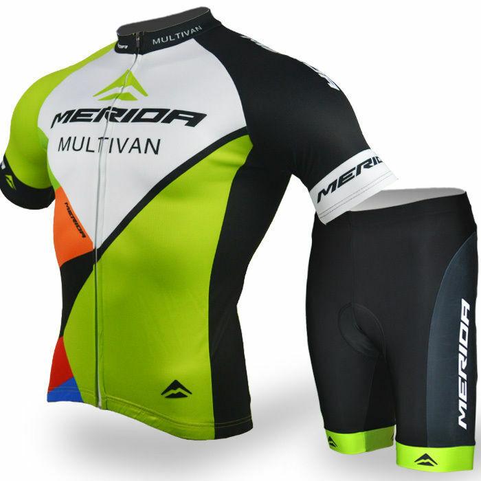Merida Multivan Team Cycling Kit Men's Bike Cycle Jersey and Shorts Padded Set