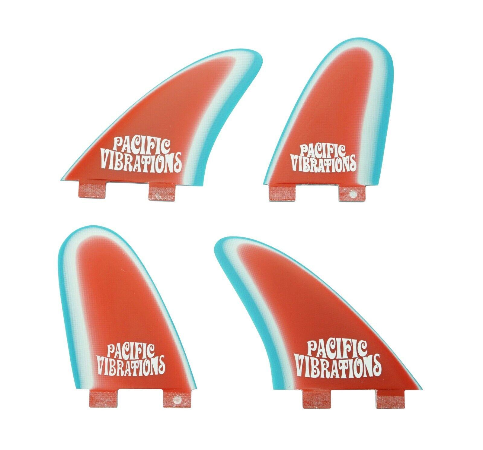 PACIFIC VIBRATIONS surfboard Fins FCS Speed Dialers QUAD template Fiberglass
