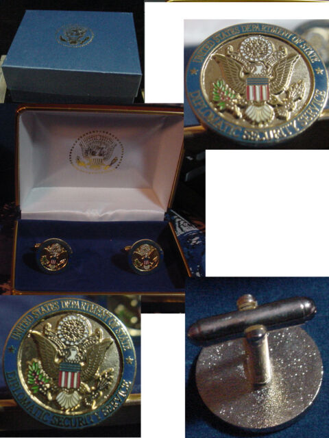 New pair state department diplomatic security services CUFFLINKS  DSS