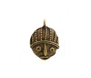 Colgante-Africana-Ashanti-Tribal-Ancestro-Llavero-Etnico-Bronce-5124