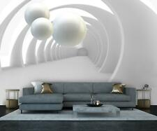 VLIES FOTOTAPETE grau 3D Kugeln Säulen Korridor Marmor Tapete XXL Vliestapete