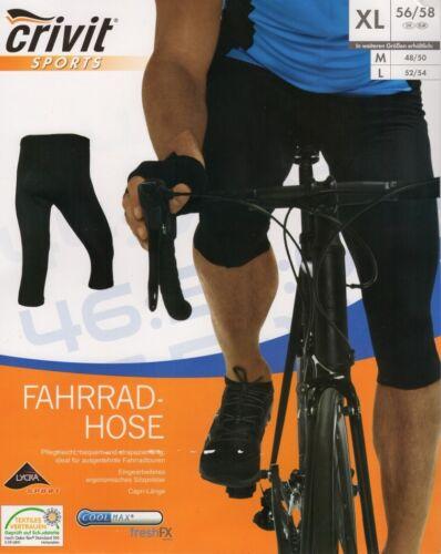 Herren Radhose 3//4 M L XL Fahrradhose mit Sitzpolster Hose Fahrrad Coolmax
