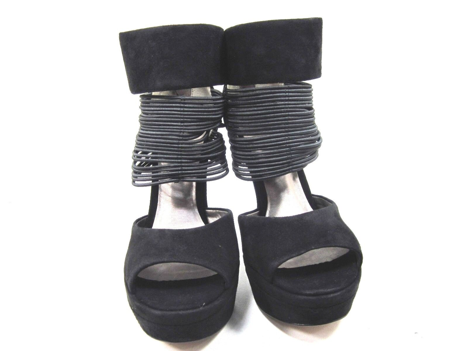 HK BY HEIDI KLUM KLUM KLUM donna GILLIAN PLATFORM SANDALS,nero,US Dimensione 8.5,MEDIUM,NEW f3b89c