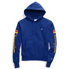 Champion Reverse Weave Hoodie Sweatshirt Oversized Flocked Logo Men/'s Size 2XL