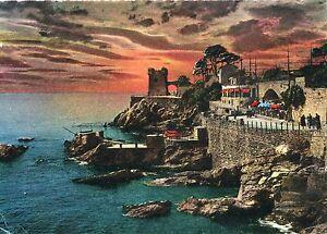 Alte Postkarte - Nervi - Sonnenuntergang auf den Felsen - Kornwestheim, Deutschland - Alte Postkarte - Nervi - Sonnenuntergang auf den Felsen - Kornwestheim, Deutschland