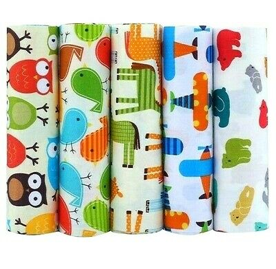 Cotton Fabric Cartoon Series Fat Quarter Bundle Quilting Patchwork 5 Pieces Lot 692632969291 Ebay