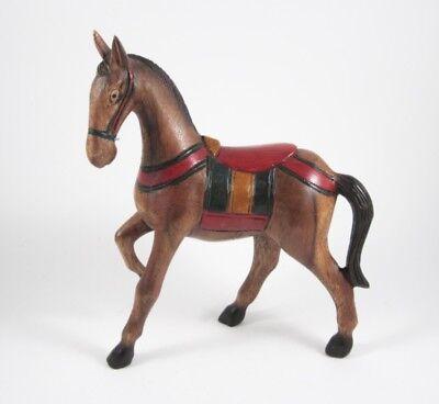 cheval Chevaux sculpté en bois de Suar