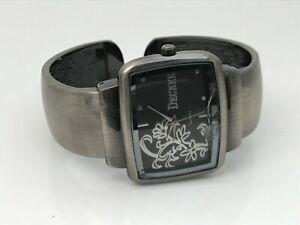Decree Women Watch Bangle Cuff Bracelet Wrist Watch Broken Crystal
