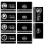 miniature 5 -  SCP Foundation Keycards sticker pass 10pcs PLASTIC CARD cosplay games gift