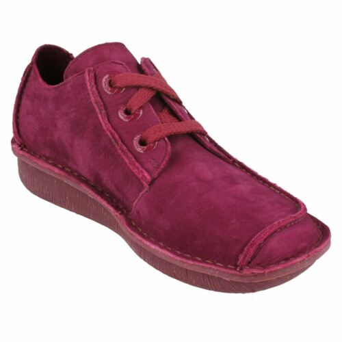 FUNNY DREAM 1 LADIES CLARKS UNSTRUCTURED LEATHER FLAT LACE UP TROUSER SHOES SIZE