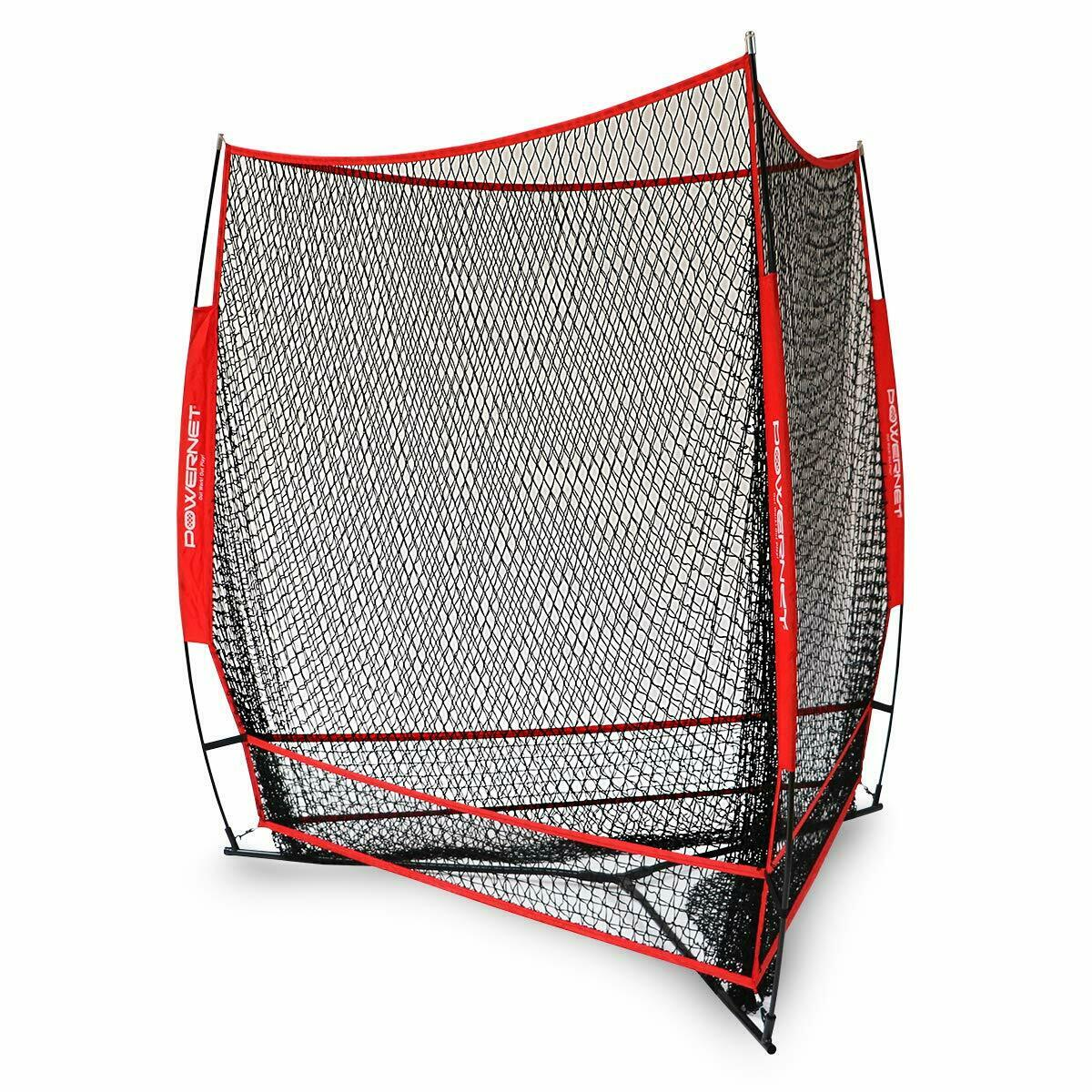 PowerNet Triple Threat Baseball Softball Practice Training Net 7' x 7' 3 Sided