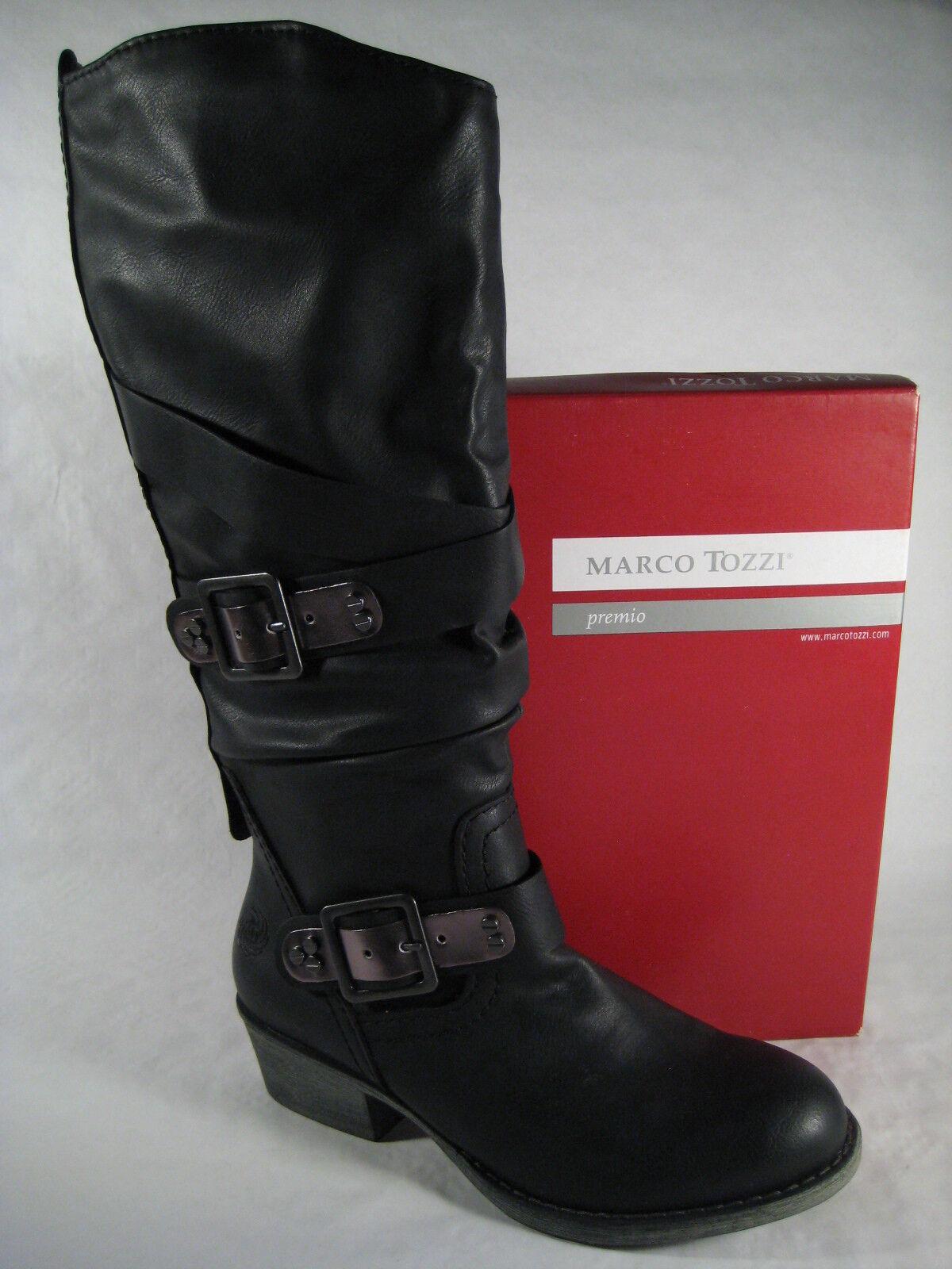 Marco Tozzi Botas, Botines, botas de invierno negro, Forrado 25506 NUEVO