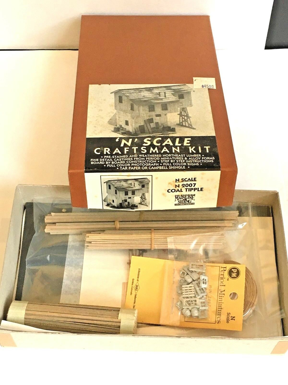 N SCALE MAINLINE AND SIDING WOOD STRUCTURE MS 007 COAL TIPPLE KIT