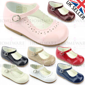BABY GIRLS SPANISH STYLE PATENT SHOES