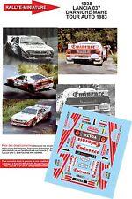 DÉCALS  1/43 réf 1038 LANCIA 037 DARNICHE MAHE TOUR AUTO 1983