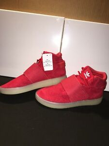 NEW ADIDAS MENS TUBULAR INVADER STRAP RED/WHT BB5039 -?A0004 SZ 8-12