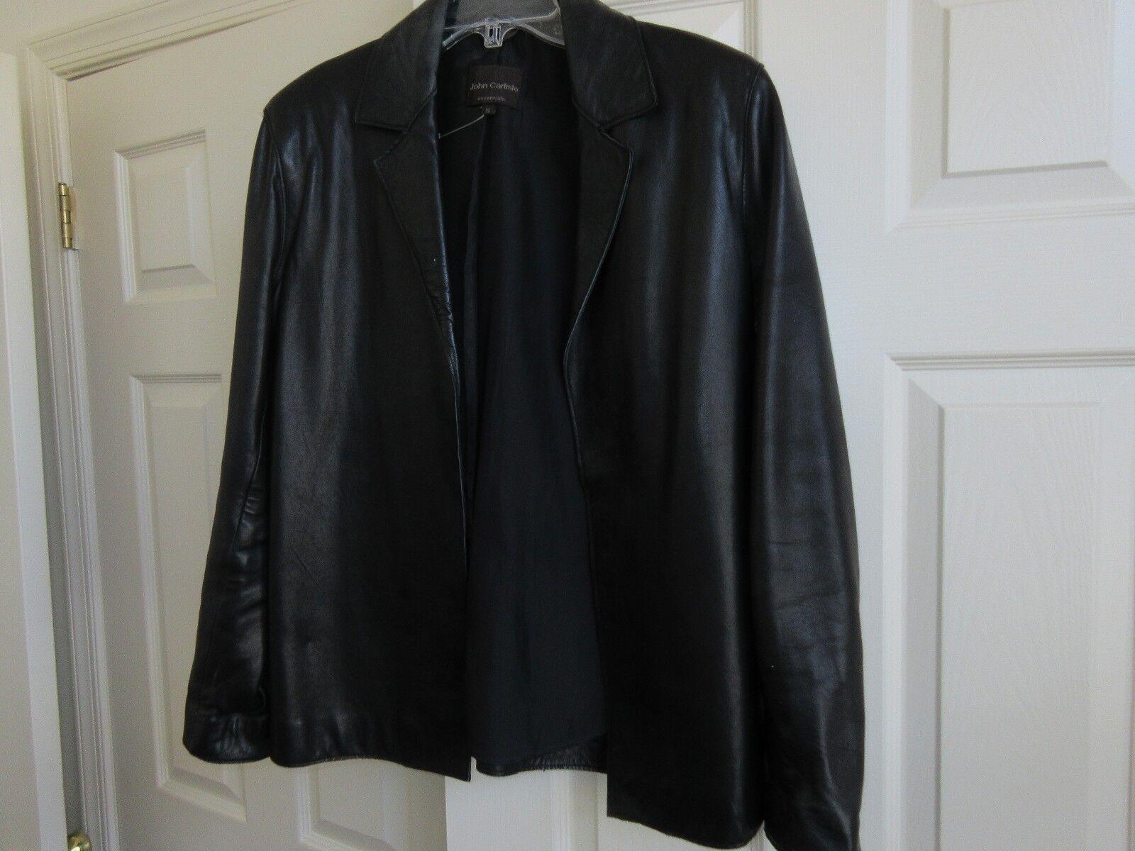 John Carlisle Essentials , Ladies Leather Jacket , Blac