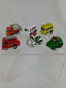 6-Pullback-Penny-Racers-cars-Bus-Fire-Trash-Truck-Ambulance-Police-etc-PRE-Owned