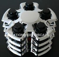 4 Camaro 18 Chrome Center Hub Caps 5 Lug Hubs Nut Rim Covers Steel Rally Wheel