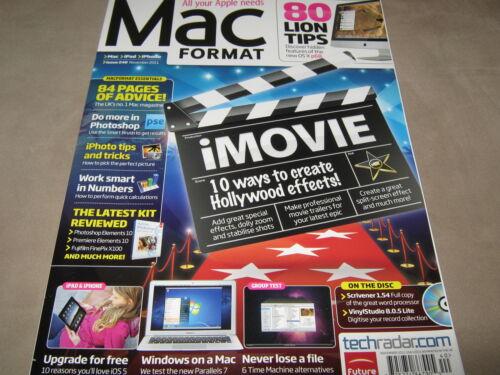NEW MAC FORMAT November 2011 iMOVIE 80 LION Tips Scrivener 1.54 VinylStudio CD