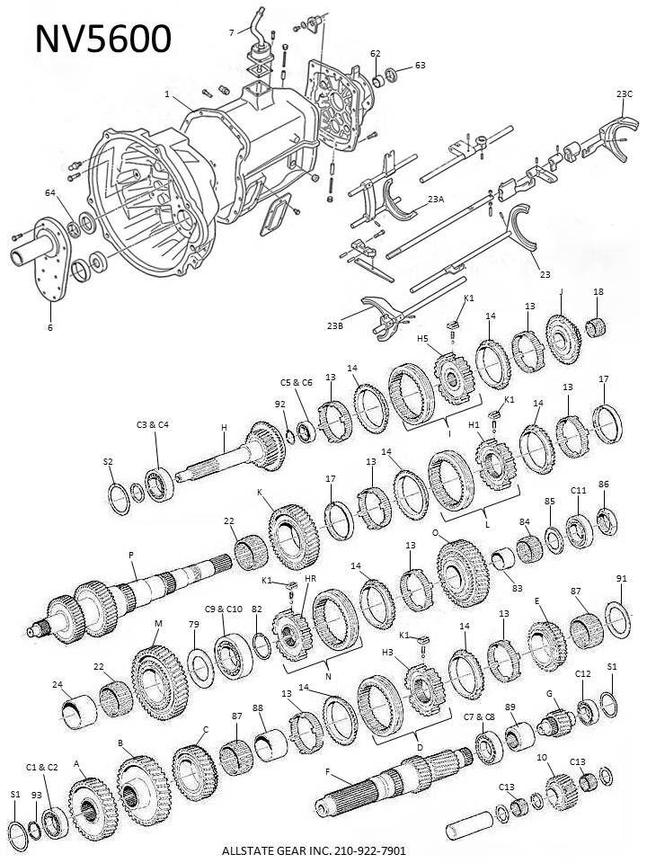 Nv5600 Transmission 1st Gear Inner Race Nv27341