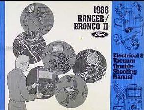 1988 FORD RANGER BRONCO II Electrical Wiring Diagram ...