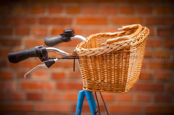 Fahrrad-Korb Weidenkorb Bügel Fahrradzubehör mit Tragegriff