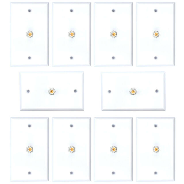1-Gang Blank Wall Plate Cable Wire Cover Outlet Switch Decora Faceplate Black
