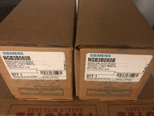 NEW Siemens NGB3B080B 3p 480v 80a Molded Case Circuit Breaker NEW IN BOX