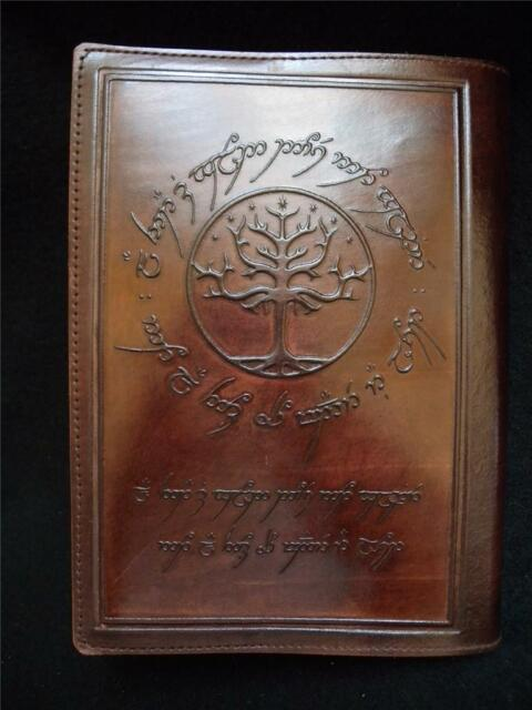 Refillable A5 Handmade Leather Journal Diary: LORD of the RINGS - TREE of GONDOR