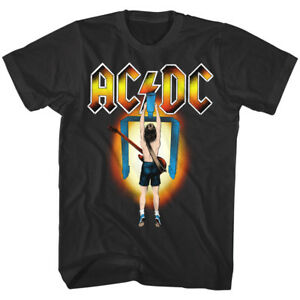 ACDC Flick of the Switch Album Cover Men's T Shirt Metal Rock Band Concert Merch