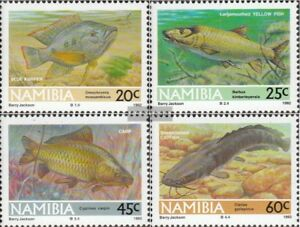 Adroit Namibia 719-722 Never Hinged 1992 Südwasserfis 100% Original Unmounted Mint complete Issue