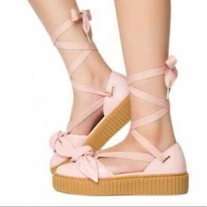 8076c103ded5  139 NEW PUMA SIZE 8.5 WOMEN S FENTY PUMA Rihanna Bow Creeper Sandal ...
