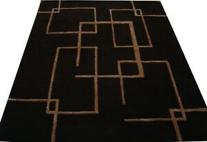 India-Hand-Tufted-Modern-Custom-Bespoke-Wool-Viscose-Art-Silk-Carpet-Area-Rug