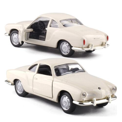 Karmann Ghia 1968 1:43 Metall Die Cast Modellauto Beige Spielzeug Sammlung