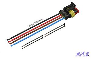 Amp-Superseal-4-pin-0-50-1500mm-Jack-Connettori-CAMION-AUTO-IMPIANTO-ELETTRICO-QUAD