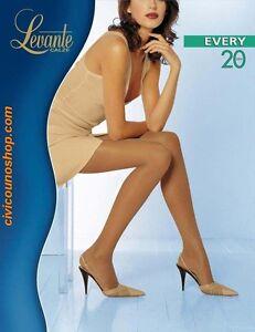 Levante-Collant-Donna-Calze-Every-20-DEN-Tuttonudo-Cucitura-piatta